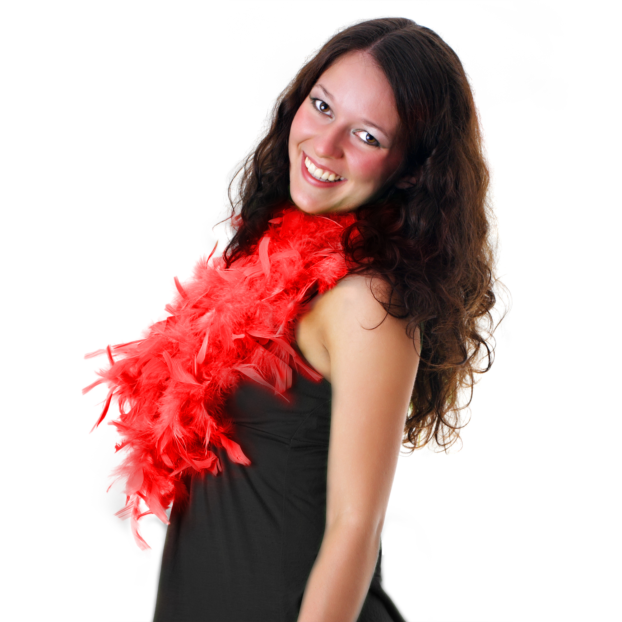 Feather BOA - 6ft Red - 60g