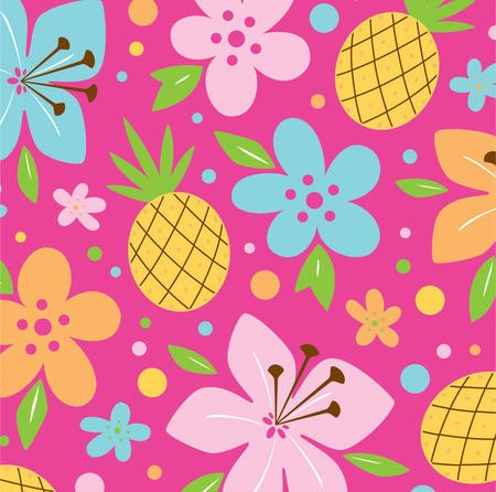 Pink Luau Fun 3-Ply Beverage Napkins