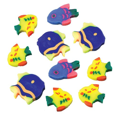 Mini Fish Erasers