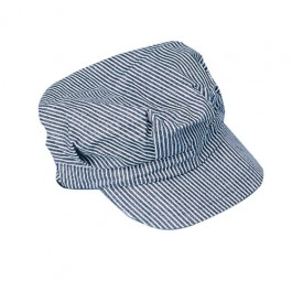 Child Size Striped Train Engineer Hat