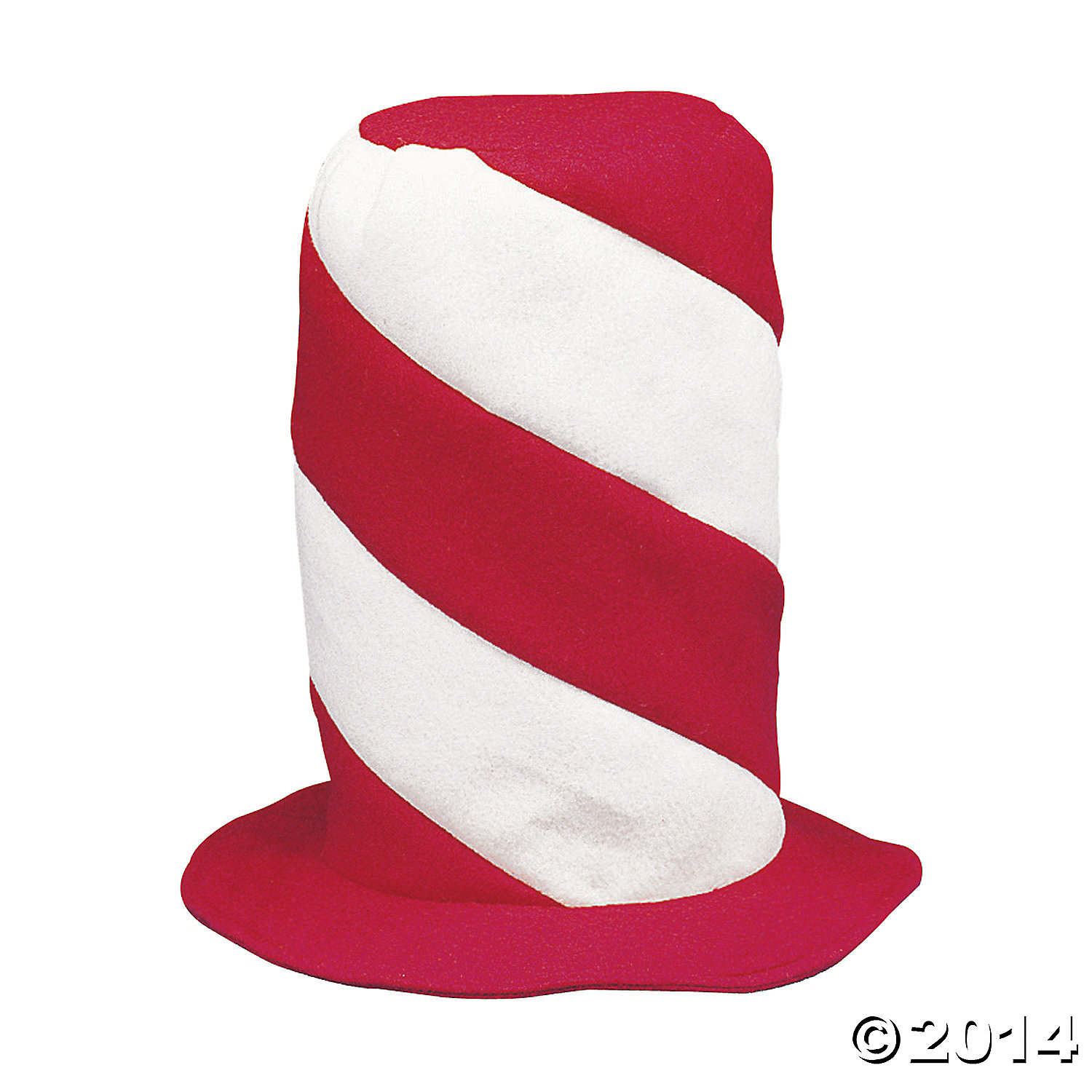 Felt Red And White Swirl Stovepipe Hat