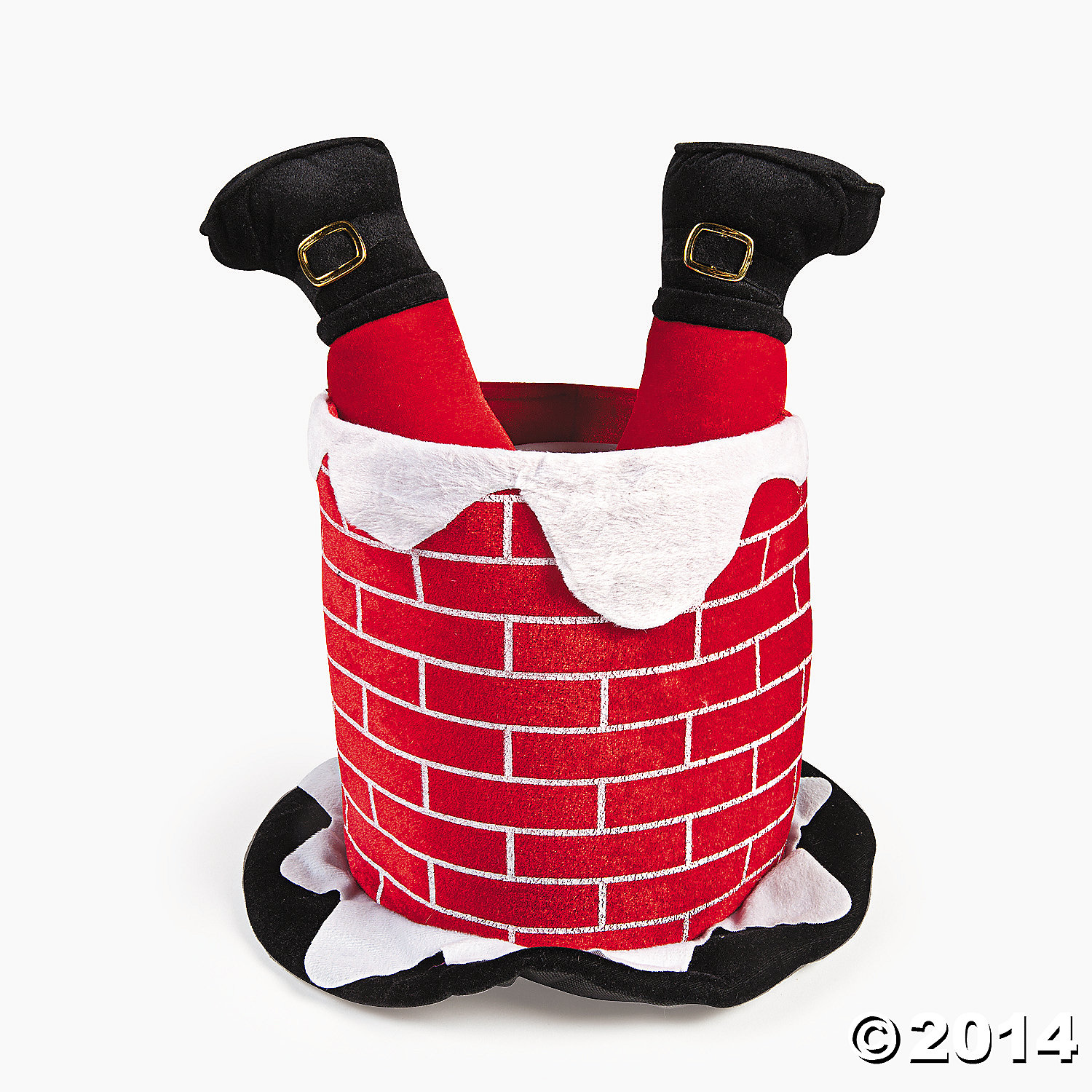 Plush Chimney Hat with Santas Legs