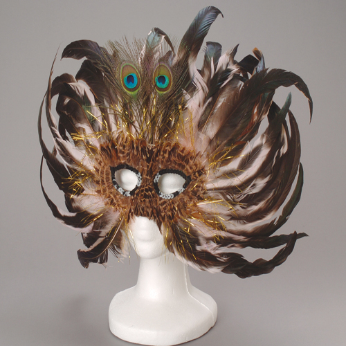 Fancy Peacock Feather Mask