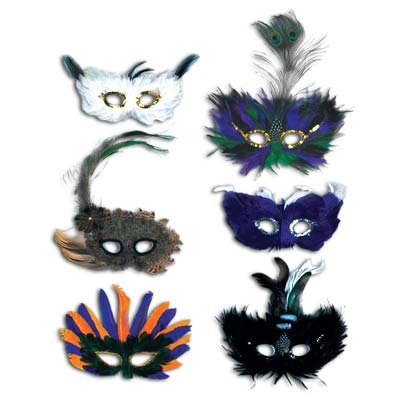 Majestic Fanci-Feather Masks