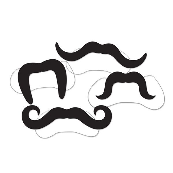 Printed Villain Mustaches- 4ct