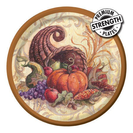 Cornucopia Scroll 7 inch Lunch Plates