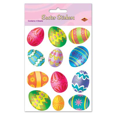 Easter Egg Stickers 4.75 x 7.5in