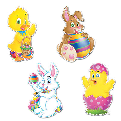 Easter Cutouts 14in
