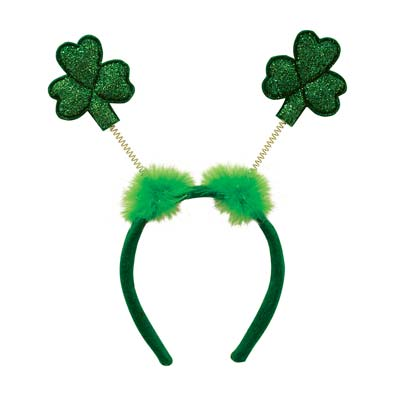 Glittered Shamrock Boppers