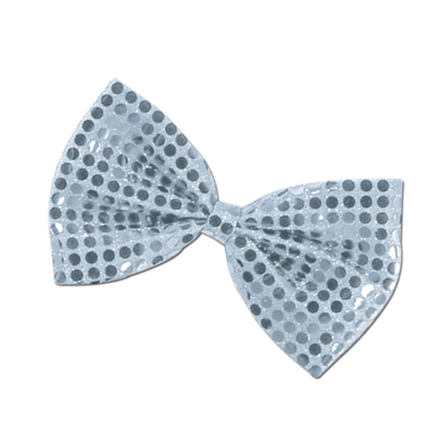 Glitz 'N Gleam Bow Tie 4.25x7in silver