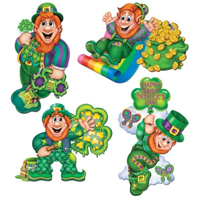 Leprechaun Cutouts 14in