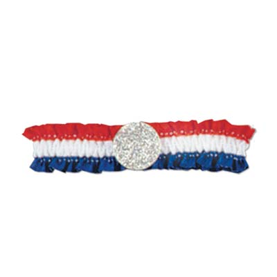 Pkgd Patriotic Arm Band - Red White Blue