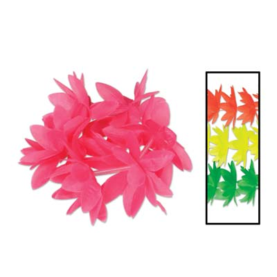 Neon Lotus Wristlet and Anklet Leis - 10 Inch