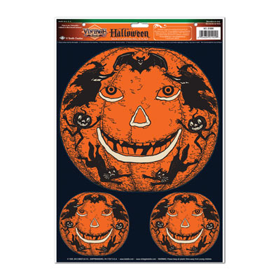 Jack O' Lantern Clings 12 x 17 Inches