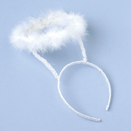 White Maribou Feather Angel Halo