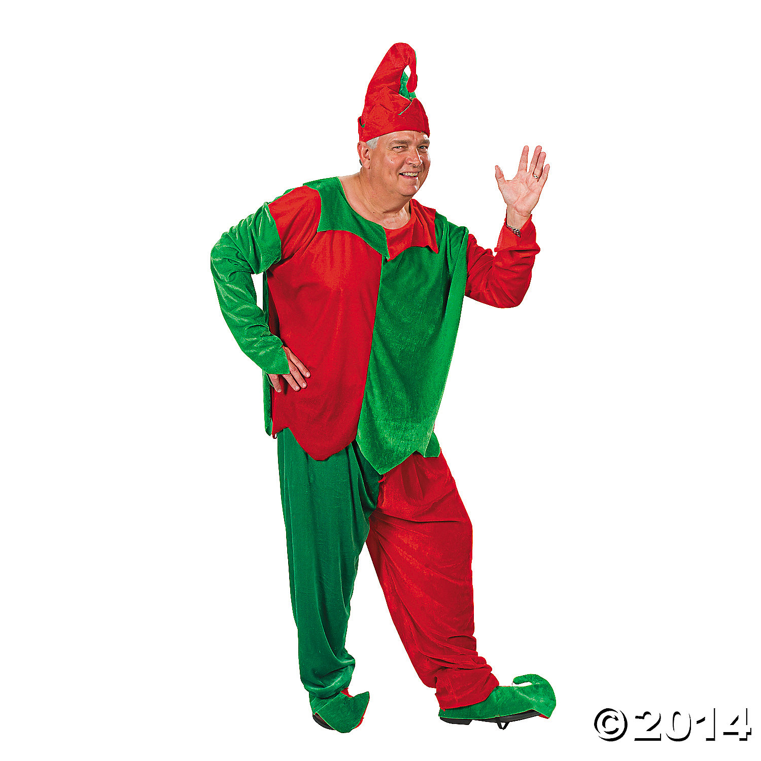 Polyester Adult Plus Size Men's Elf Costume