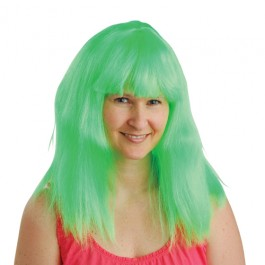 Neon Wig Green