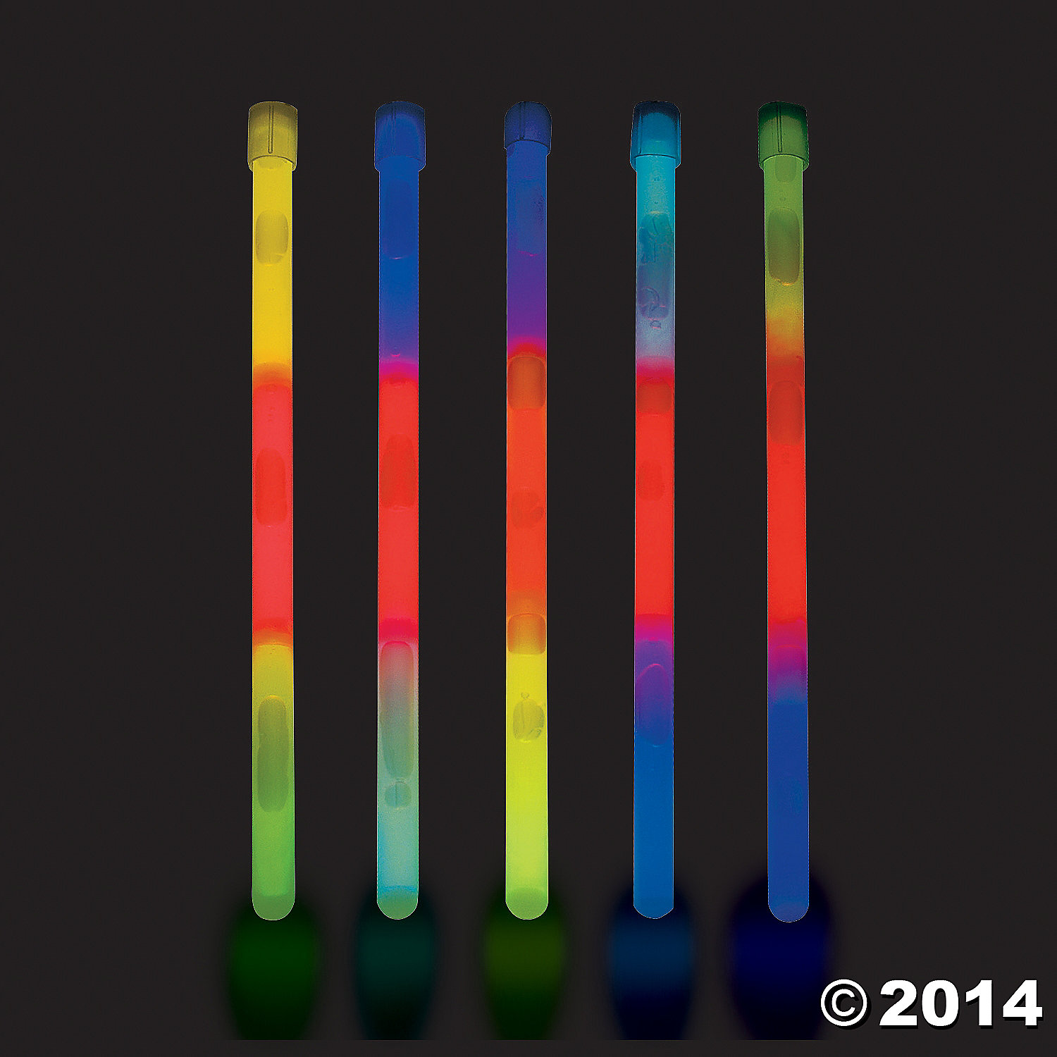 Plastic Premium Tri-Color Glow Sticks