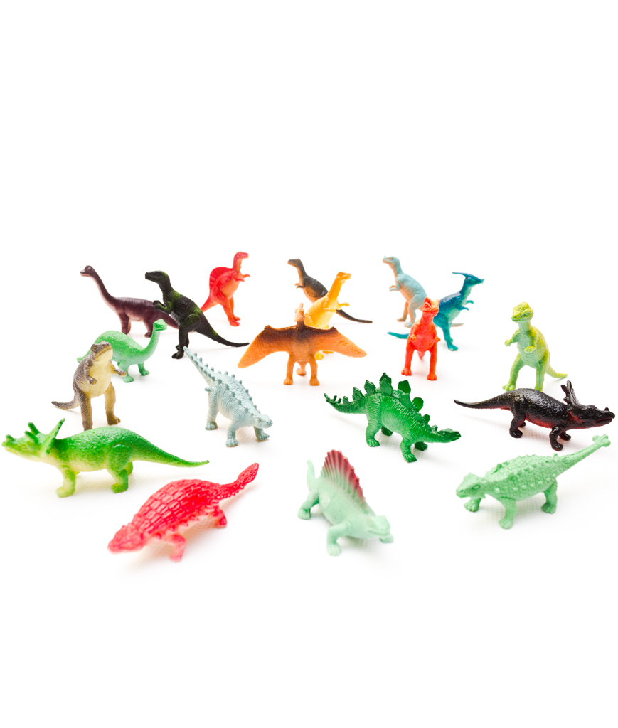 Fun Central AU078 Mini Vinyl Dinosaurs - Assorted 72ct