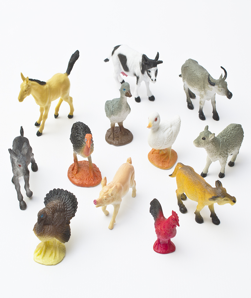 4 to 5 Inch Farm Animals - Assorted 12ct