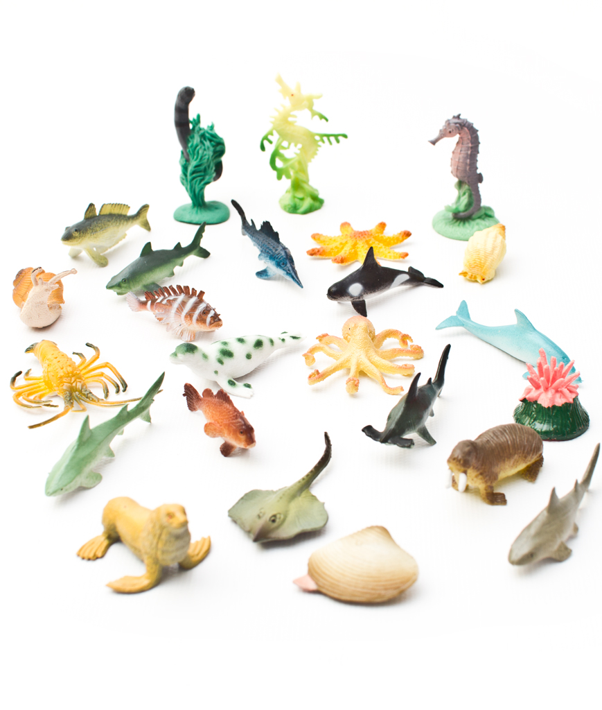 1 to 2.25 Inch Ocean Animals 36 Styles- Assorted 90ct