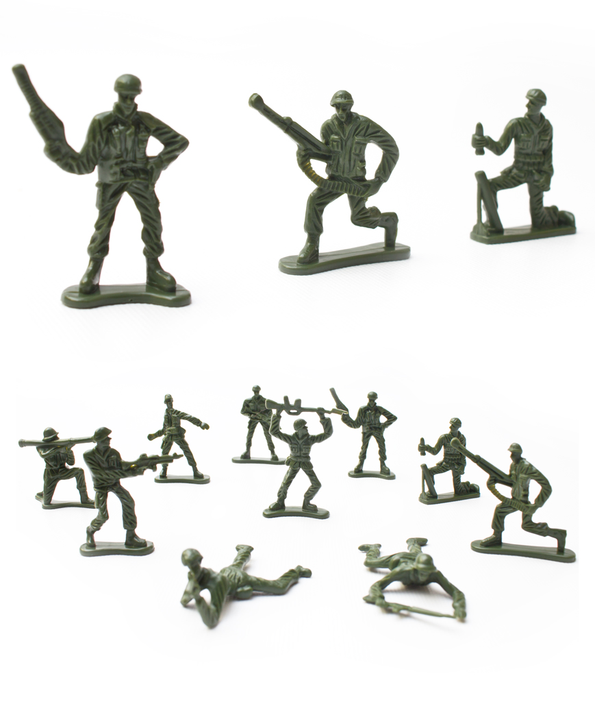 5 CM Army Figurines - Green