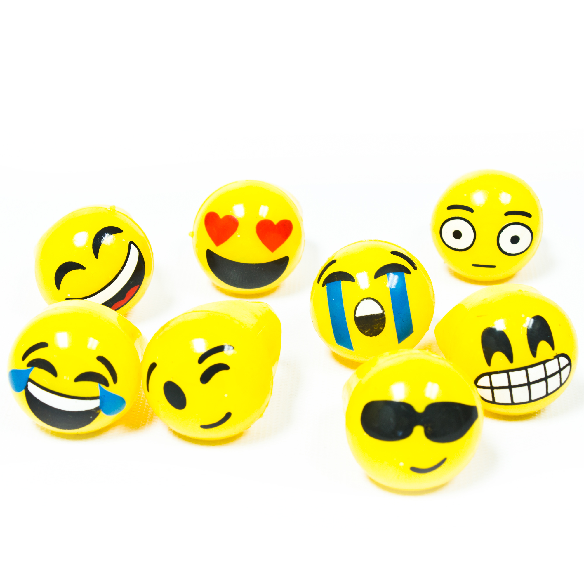 LED Jelly Emoji Rings - Assorted