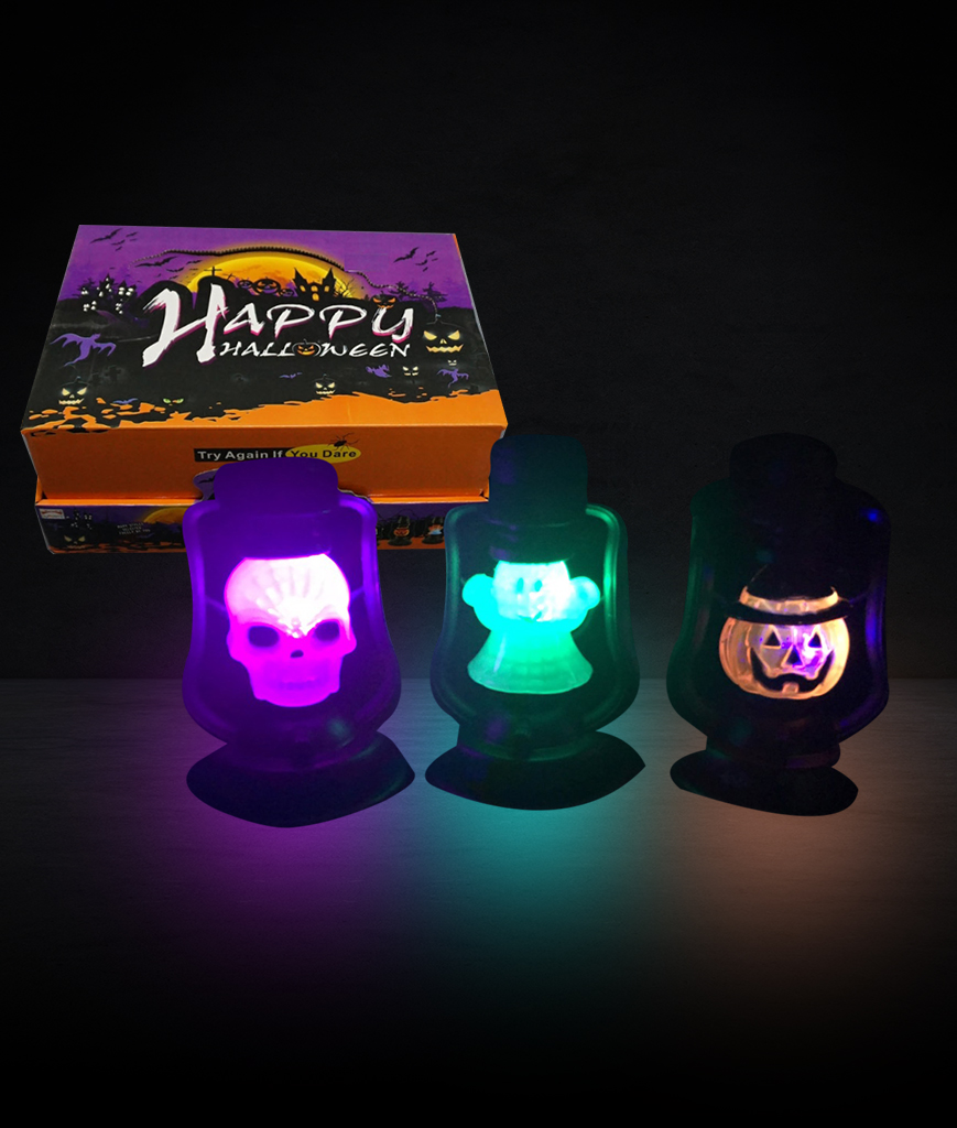 LED Halloween Lantern - Assorted 12ct