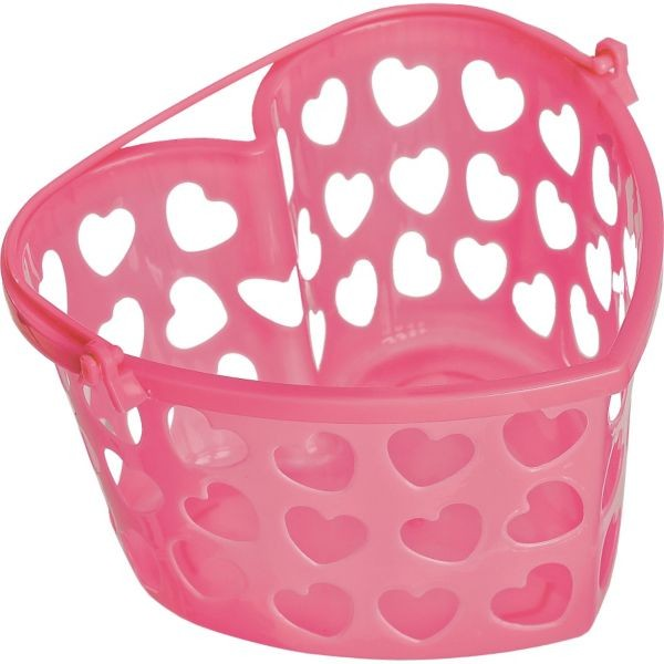 Pink Heart-Shaped Plastic Container