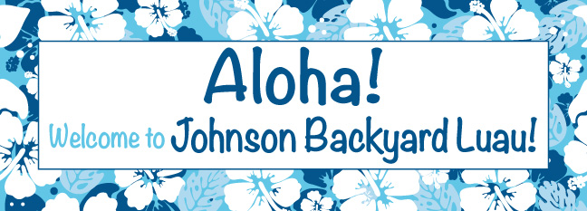 Bahama Blue - Custom Banner