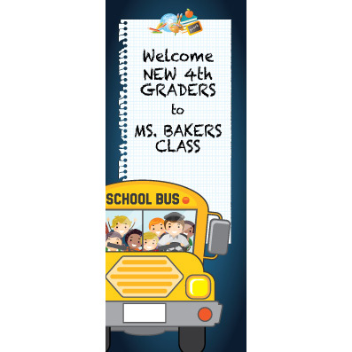 Bus Paper - Custom Door Banner