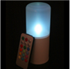 6 Inch Flameless Remote Control Outdoor Pillar Candle - Multicolor