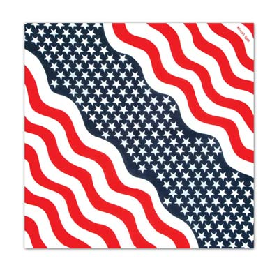 Patriotic Bandana 22 x 22in