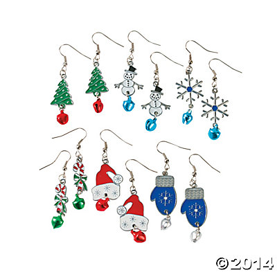 Metal Jingle Bell Earrings