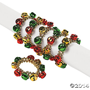 Plastic Jingle Bell Beaded Bracelets