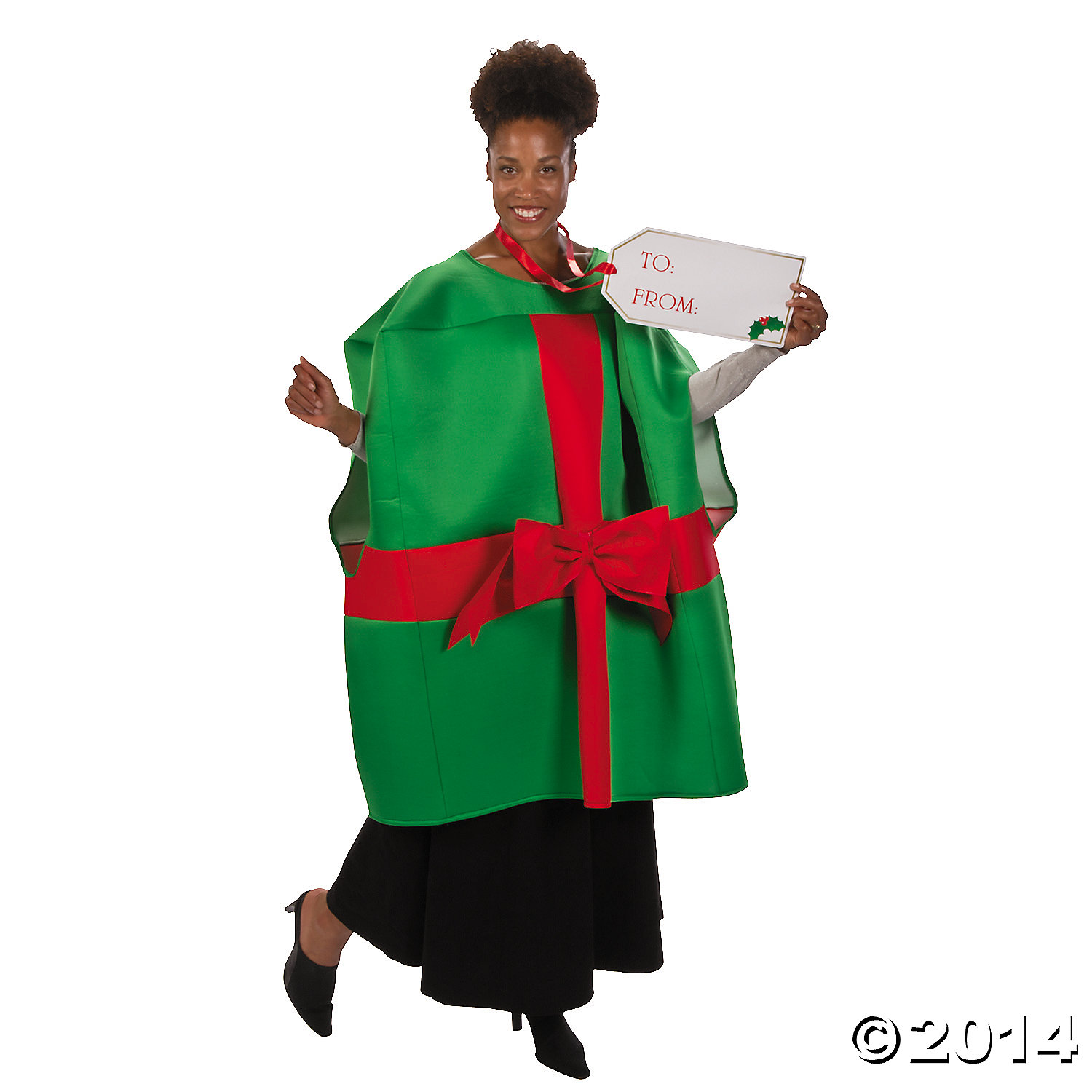 Polyester Adult Christmas Present Costume