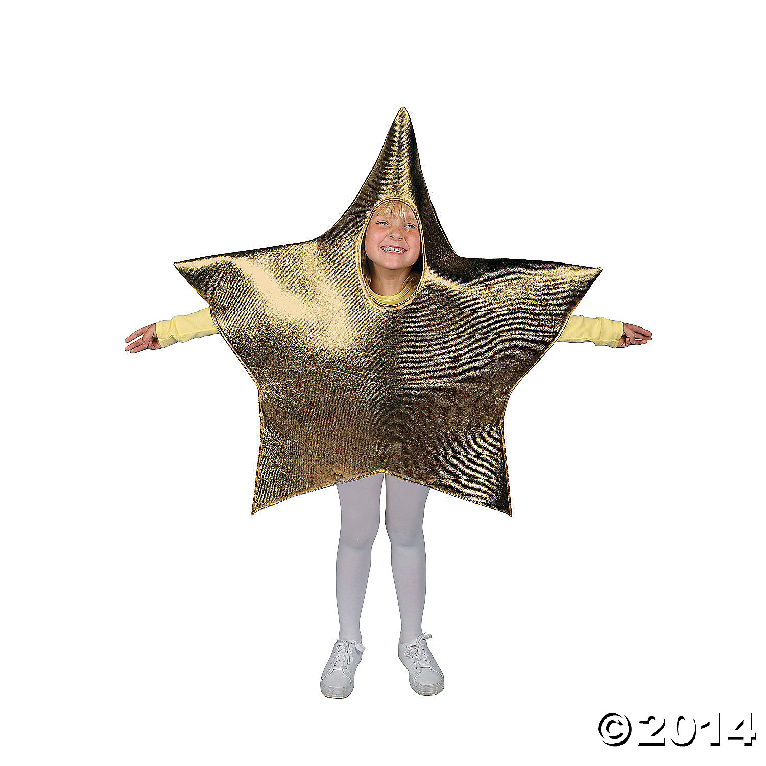 Metallic Fabric Star Child Costume