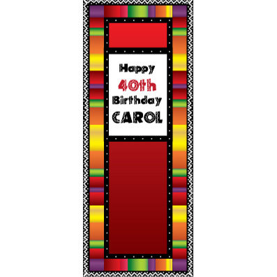 Fiesta Stripes - Custom Door Banner