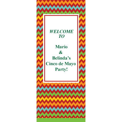 Zigzag Color - Custom Door Banner
