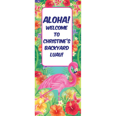Hibiscus Heat - Custom Door Banner