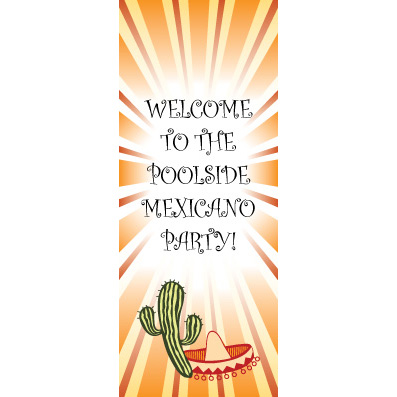 Fiesta Orangeburst - Custom Door Banner