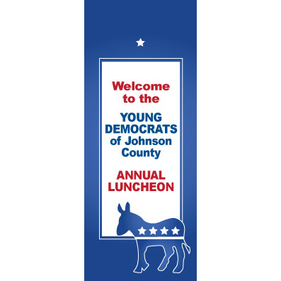 Democratic Blue - Custom Door Banner