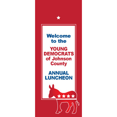 Democratic Red - Custom Door Banner