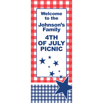 Patriotic Picnic - Custom Door Banner