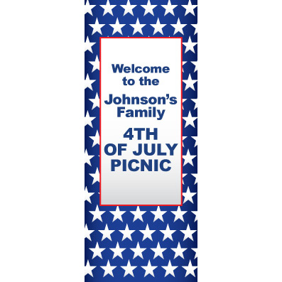 Red White Blue Stars - Custom Door Banner