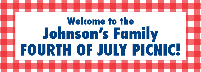 American Red Gingham Custom Banner
