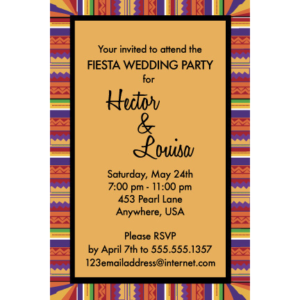 Festive Fiesta - Custom Invitations