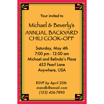 Fiesta Grande - Custom Invitations
