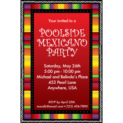 Fiesta Stripes - Custom Invitations