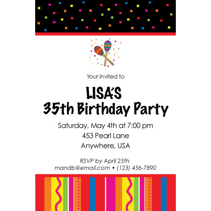 Maraca Party - Custom Invitations